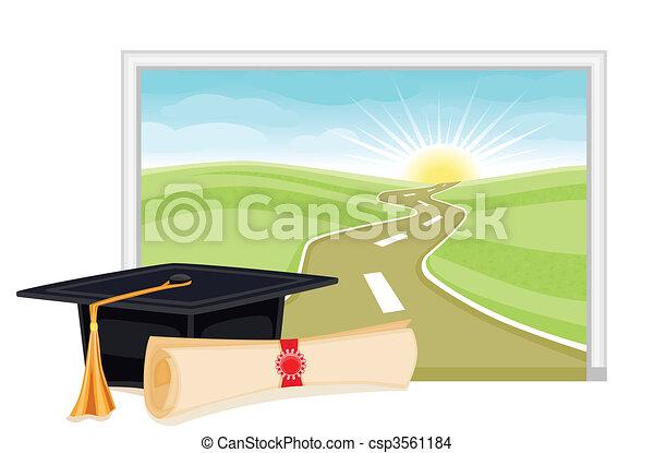 Graduation start to a bright future - csp3561184