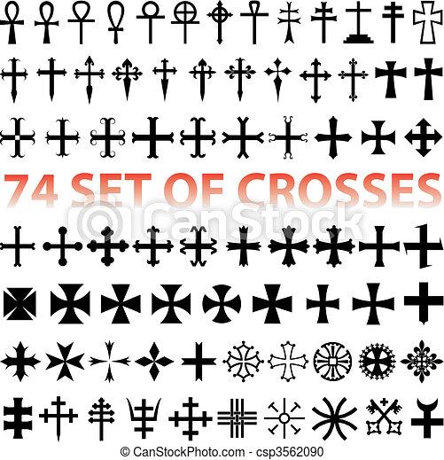 Set Crosses vector - csp3562090