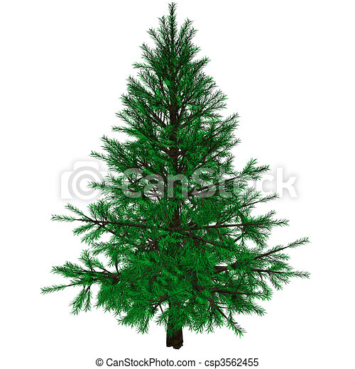 Bare Christmas tree  - csp3562455