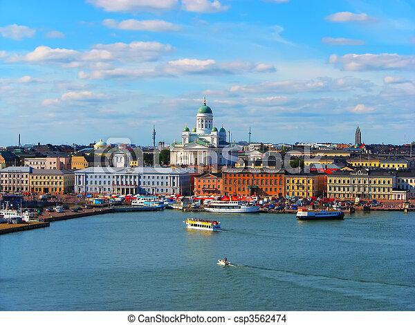 Helsinki, historical center  - csp3562474