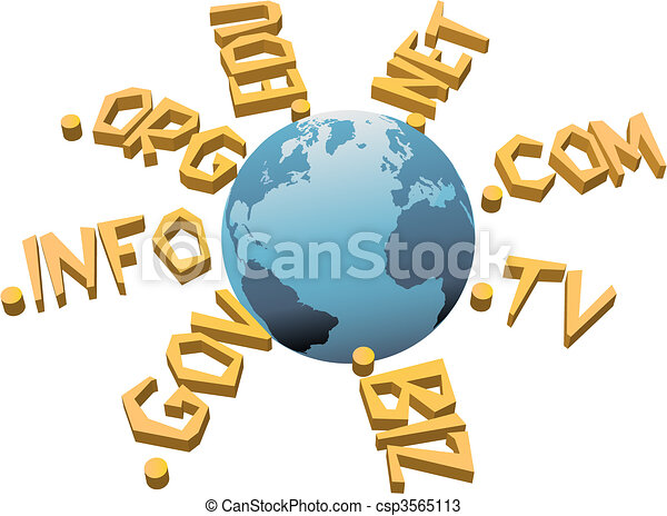 World top level URL internet WWW domain names - csp3565113