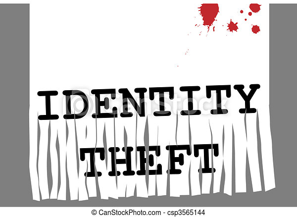 ID Identity theft fraud paper shredder security - csp3565144