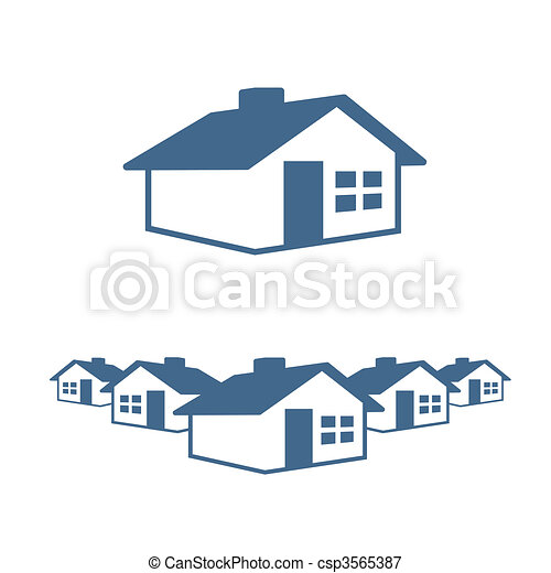 House Graphic Icon and Header - csp3565387