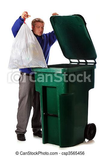 Dumping Trash - csp3565456