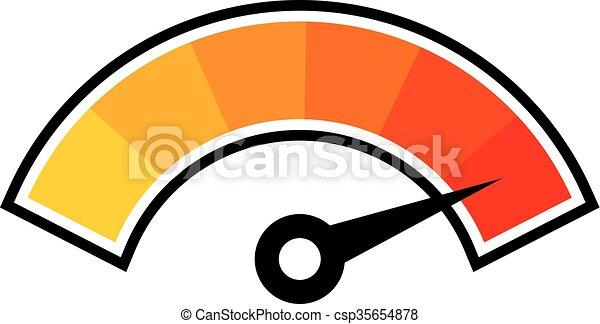 hot temperature symbol - csp35654878