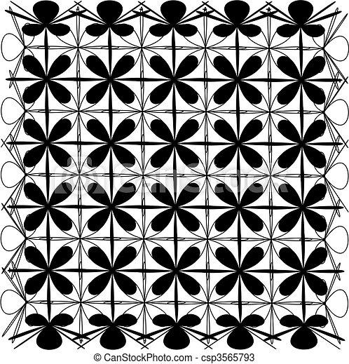 Abstract symmetry. Vector - csp3565793