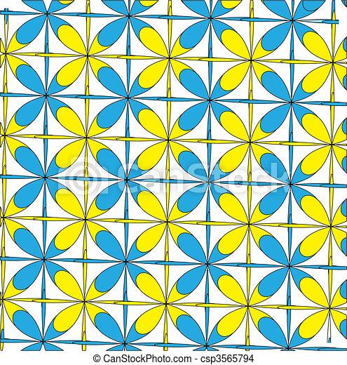 Abstract symmetry. Vector - csp3565794