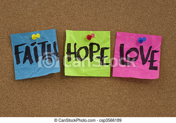 faith, hope and love - csp3566189