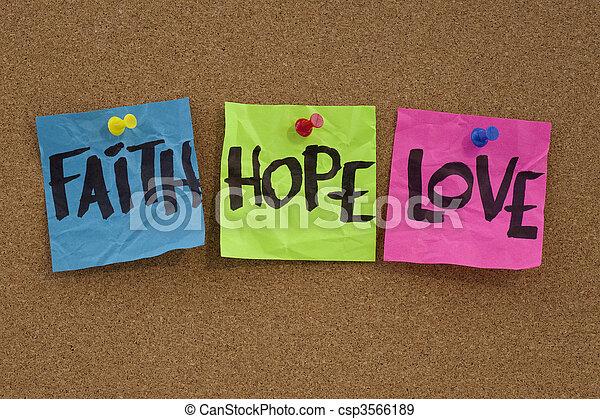 faith, hope and love - csp3566189