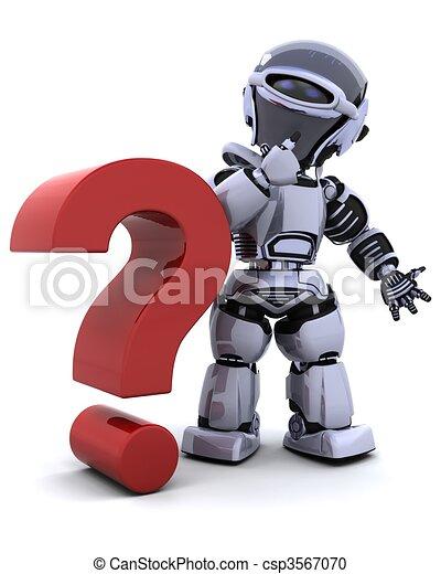 robot with symbol - csp3567070