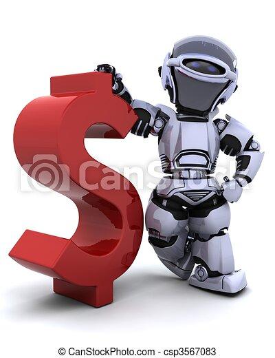 robot with symbol - csp3567083