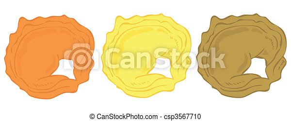 Tortellini lined-up. - csp3567710