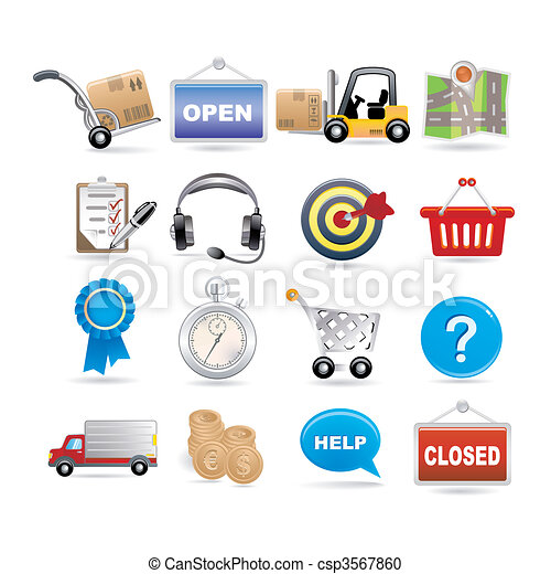 shopping and logistic - csp3567860