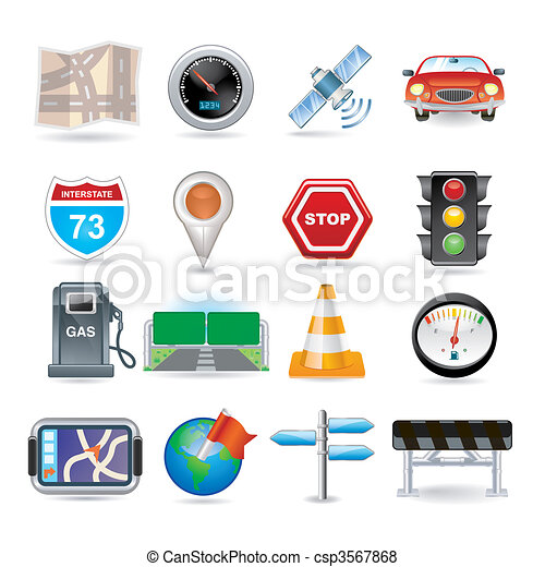 navigation icon set - csp3567868