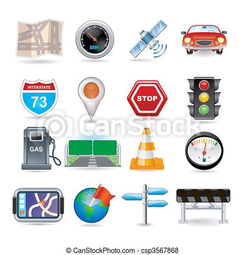 navigation icon set - csp3567868