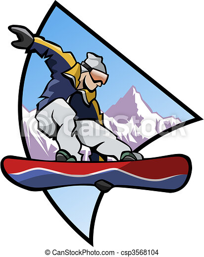 Snowboard logo - Colors - csp3568104