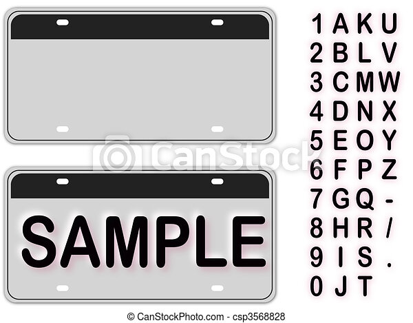 Empty License Plate - csp3568828