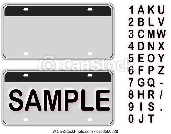 Empty License Plate - csp3568828