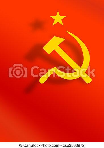 Symboles,  union, soviétique - csp3568972
