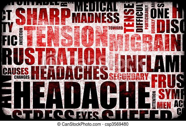 Headache - csp3569480