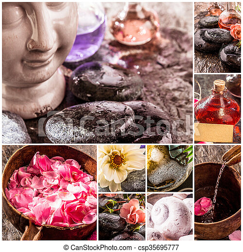 Spa and Zen Composite with Natural Products - csp35695777