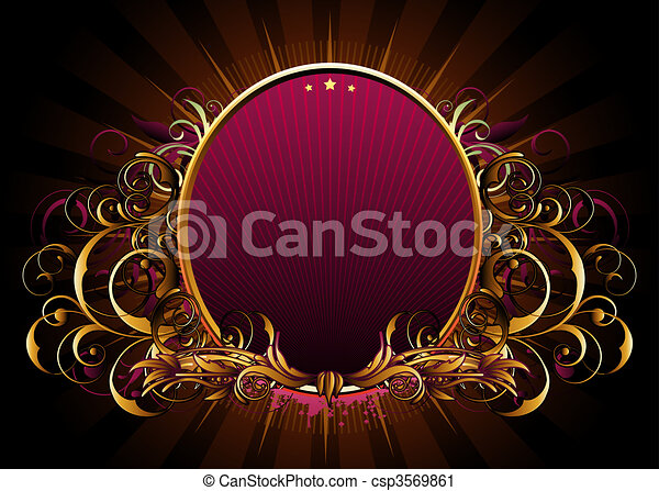 luxury floral frame - csp3569861