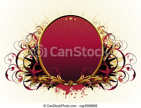 luxury floral frame - csp3569866