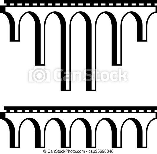 eps vektor von br cke symbol viadukt schwarz klassisch klassisch csp35698848 suchen. Black Bedroom Furniture Sets. Home Design Ideas