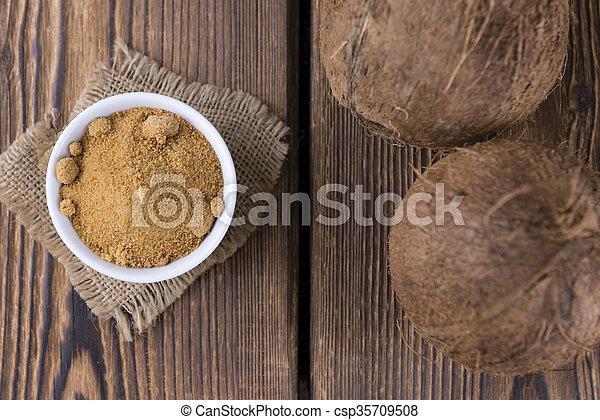 Coconut Palm Sugar (selective focus) - csp35709508