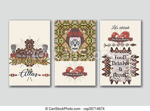 Set of the card template - csp35714674