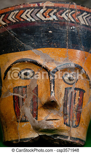 Artwork In Peru in Ayacucho in the andes - csp3571948