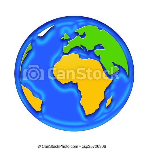 World globe - csp35726306