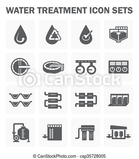 vector clipart of water treatment icon water treatment