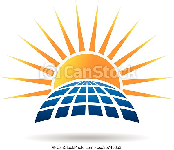 Clipart Vector of Solar energy photovoltaic panel. Vector graphic ...
