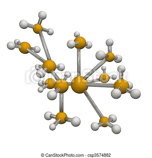 3D Molecule - csp3574882