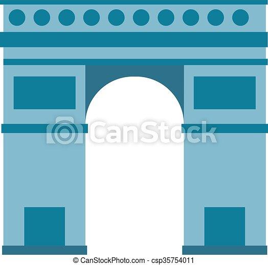 Vector Clip Art of Arc de Triomphe Paris France architecture ...