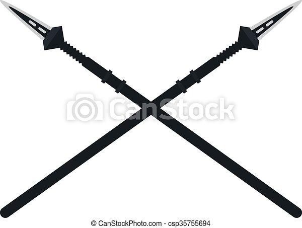 Weapon spear cartoon lance tool battle and war tool - csp35755694