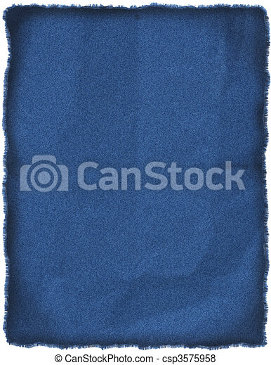 Wrinkled blue jeans patch - csp3575958