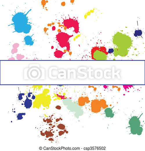 Background with ink spots - csp3576502