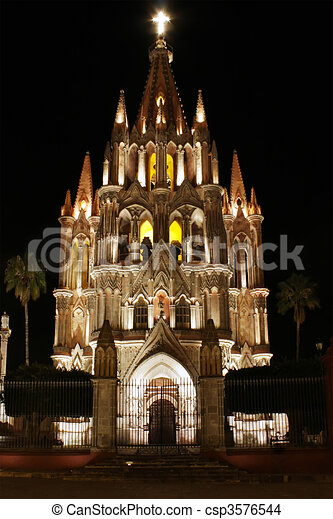 San Miguel de Allende Church - csp3576544
