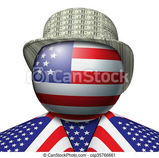 USA Dollar Hat - csp35766661