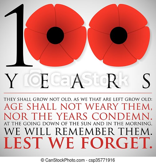 Vector Clip Art Of Remembrance Anzac Day 100 Years Card