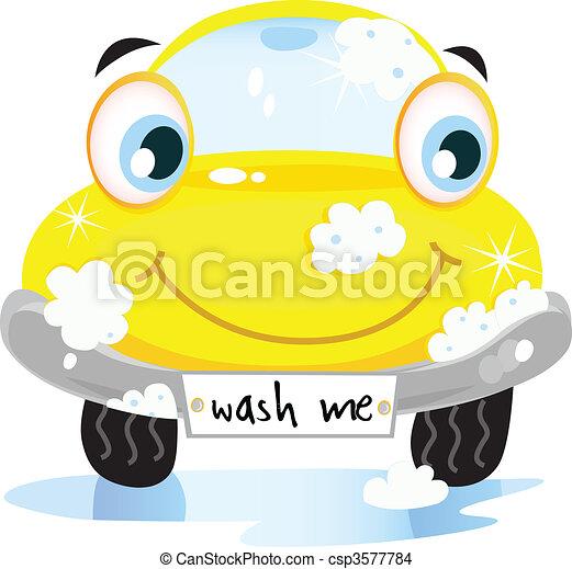 Vecteur eps de service voiture laver vector illustration de heureux csp3577784 - Coloriage car wash ...