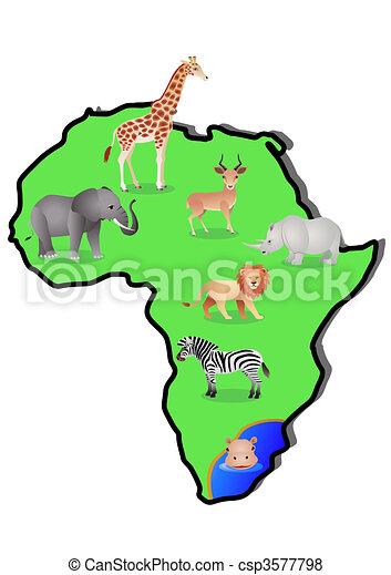 Animal Map - csp3577798