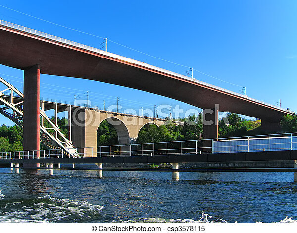 Railway bridges in Stockholm - csp3578115