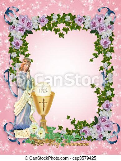 First Holy Communion Invitation  - csp3579425