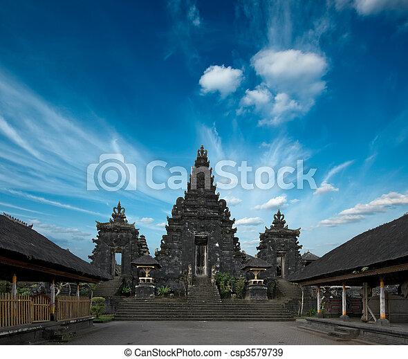 Inside Hindu temple - csp3579739
