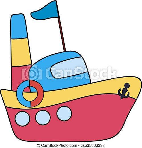 Vectores de barco dibujo infantil steamboat pasajero - Imagenes de barcos infantiles ...