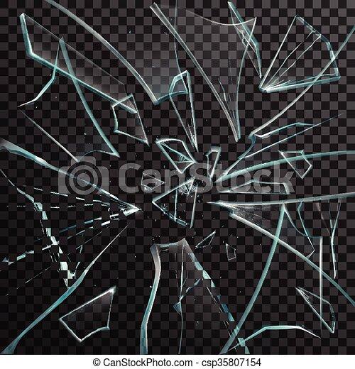 Broken glass shards drawing