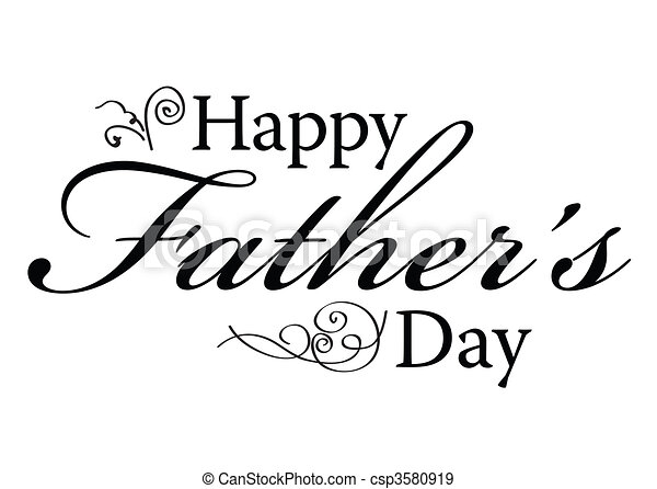 Happy Fathers Day Type - csp3580919